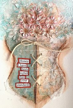 ART JOURNAL PAGE | CORSET | Nika In Wonderland Art Journaling and Mixed Media Tutorials