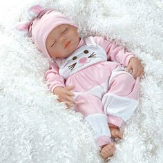 "Lifelike Baby Doll ""Baby Cottontail"" 19"" in Vinyl Weighted Body 