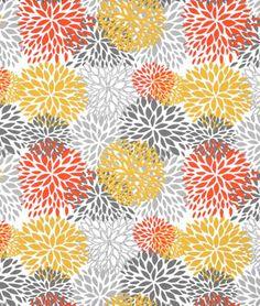 Premier Prints Outdoor Blooms Citrus Fabric - $9.9 | onlinefabricstore.net spun polyester - chairs