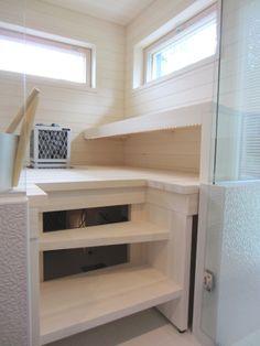 sauna Sauna Design, Finnish Sauna, Relax, Bunk Beds, Loft, Shelves, Bathroom, House, Furniture
