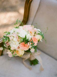 Juliet roses, caramel antique garden roses, sweet peas, peonies, and jasmine