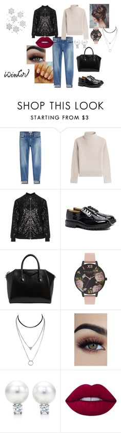 """""""Winter2017#1"""" by modefan2 on Polyvore featuring mode, Frame, Vanessa Seward, Manon Baptiste, Tricker's, Givenchy, Olivia Burton, Lime Crime et plus size clothing"""
