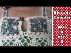 BLUSA 2XL en crochet FACIL DE HACER  3 DE 3 - YouTube