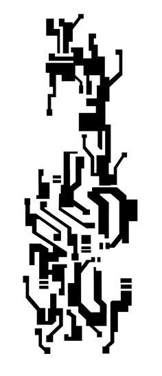 Mirror's edge - male (tattoo pattern flat)