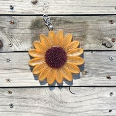 Sunflower Petal Suncatcher personalized with your flower petals