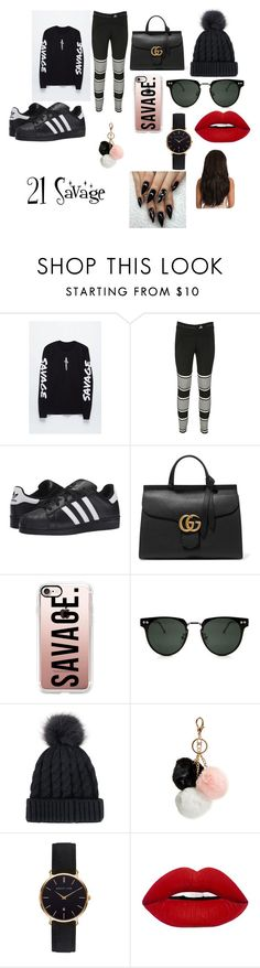 """""""21 Savage"""" by jazzy-smith-03 ❤ liked on Polyvore featuring Young & Reckless, adidas, adidas Originals, Gucci, Casetify, Spitfire, GUESS and Abbott Lyon"""