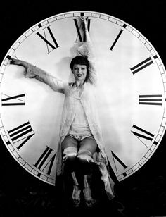 Myrna Loy counting it down to midnight on New Year's Eve!