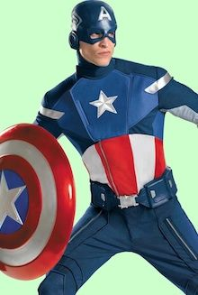 Captain America Avengers Age of Ultron Fancy Dress Costumes For Adults and Kids in all shapes and sizes. Coming Soon The Hulk, Thor, Iron Man, Black Widow and Captain America Halloween Costume, Top 10 Halloween Costumes, Adult Halloween, Adult Costumes, Men's Costumes, Halloween 2013, Halloween Ideas, Captain Costume, Superhero Halloween