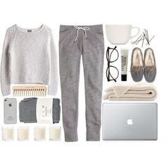 Cosy greys for the Christmas holidays, relaxing at the cottage in the afternoons...