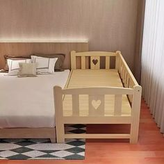 Quality Solid Wood Simple Modern Lengthen Widen Children Bed Combine Big Bed Baby Crib Strong Bearing Pine Wooden Baby Bed with free worldwide shipping on AliExpress Mobile Bed Extension For Baby, Baby Bedroom, Bedroom Decor, Family Bed, Baby Family, Diy Toddler Bed, Parents Room, Big Beds, Childrens Beds