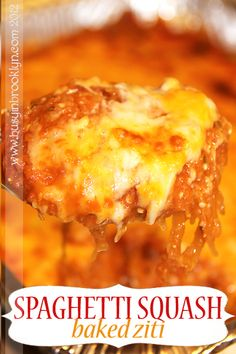 Spaghetti squash baked ziti. Great for Passover!