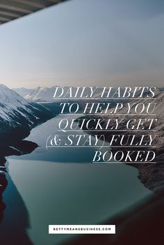 Leveling up your business doesn't need to involve scary leaps! Check out these 10 simple daily habits you can use to create success in your business (aka win clients!) without feeling overwhelmed.