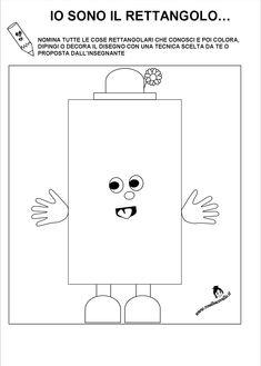 Schede didattiche Figure geometriche per bambini di 3/4 anni