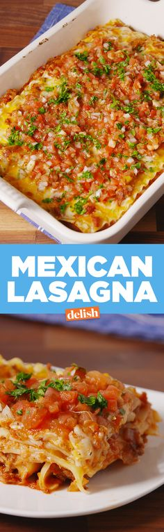 Mexican Lasagna = best way to use taco meat. Get the recipe on Delish.com.