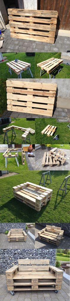 Practical diy outdoor loungers of pallets that will impress your Pallet Swing Beds, Pallet Lounge, Diy Pallet Sofa, Outdoor Pallet, Pallet Bench, Pallet Furniture Chairs, Wood Patio Chairs, Outdoor Chairs, Furniture Ideas