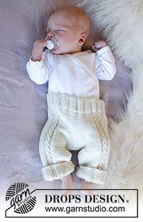 Winter Baby / DROPS Baby 33-12 - Gratis strikkeoppskrifter fra DROPS Design Baby Knitting Patterns, Free Knitting, Drops Design, Baby Dungarees Pattern, Romper Pattern, Drops Baby, Magazine Drops, Little Cherubs, Crochet Diagram