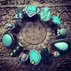➳➳➳☮American Hippie Bohemian Boho Bohéme Feathers Gypsy Spirit Style- Jewelry. . Turquoise Rings