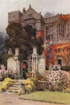 Fountains Hall. Illustration for Our Beautiful Homeland series (various, early 20th cent). Ernest William Haslehust