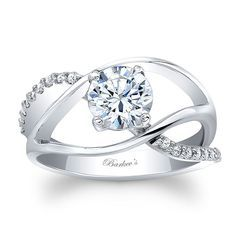 BARKEV'S UNIQUE DIAMOND ENGAGEMENT RING STYLE # 8040LW