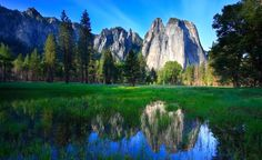 Yosemite, National Park, Cathedral Rocks, California