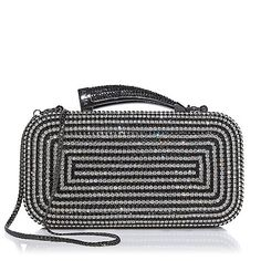 """Vince Camuto """"Horn"""" Rhinestone and Satin Clutch"""