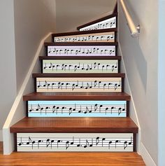 Music notes Tile, Waterproof Vinyl Tile Pack of Tile decals for Kitchen, Stair or any other sm Book Staircase, Staircase Decals, Stair Walls, Stair Art, Stair Risers, Tile Decals, Vinyl Tiles, Adhesive Tiles, Adhesive Vinyl