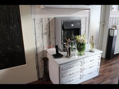 Dunkle Möbel sehr günstig in weiß streichen I Meine Wohnung vorher und Naccher - YouTube
