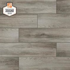 MSI Rustico Brick in. Glazed Porcelain Floor and Wall Tile sq. - The Home Depot Grey Wood Tile, Wood Tile Floors, Wood Look Tile, Wood Planks, Wooden Flooring, Tile Looks Like Wood, Laminate Flooring, Hardwood Floors, Porcelain Wood Tile