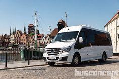 Brand new Sprinter Bus looking fresh in Gdańsk City Center #busconcept #Sprinter #bus
