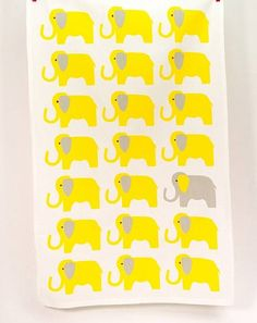 animal print tea towels by catherine tough | notonthehighstreet.com