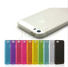 Matte Transparent Ultra-thin 0.3mm Soft Back Case Plastic Protective Cover Skin Shell for Apple iPhone 5 5S