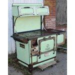 Antique Monarch Wood Cook Stoves | eBay Image 1 Vintage Green Monarch Wood Burning Cook Stove Antique