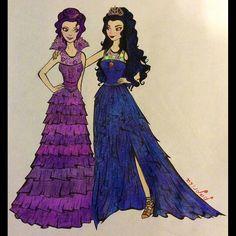 Princess Photo, Princess Art, Disney Princess Drawings, Disney Drawings, The Descendants Movie, Kawaii Girl Drawings, Hairspray Live, Mal And Evie, Art Style Challenge