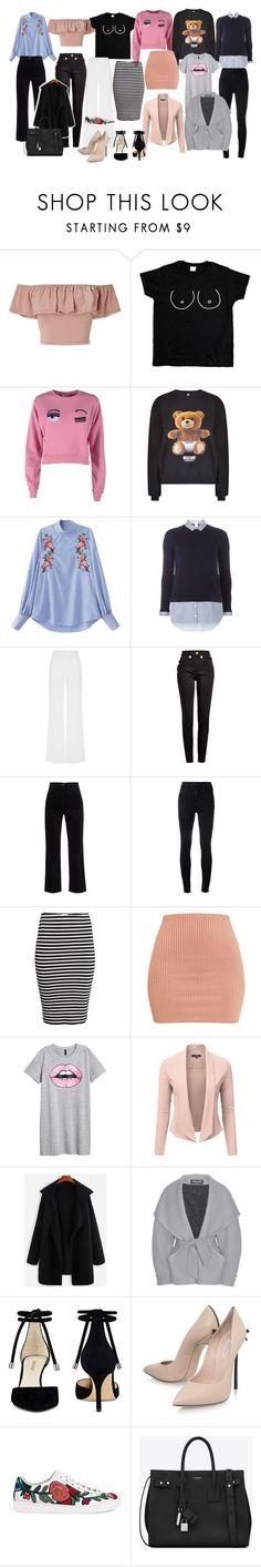 """""""my style"""" by margarita-stabelou on Polyvore featuring Miss Selfridge, Chiara Ferragni, Moschino, Dorothy Perkins, Alexis Mabille, Balmain, M.i.h Jeans, J Brand, Nine West and Casadei"""