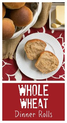 Whole Wheat Dinner Rolls | Soft, fluffy and perfect for any occasion from thatskinnychickcanbake.com