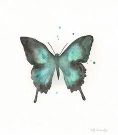 Schmetterling/blau grün blaugrün schwarze von kellybermudez auf Etsy
