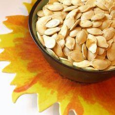 Roasted pumpkin seeds #recipe