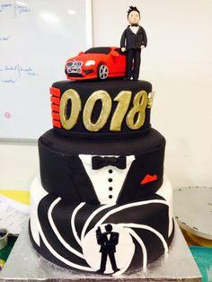 James Bond themed birthday cake, Sugarnomics Cake Studio Guam