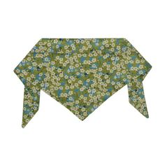 Liberty Print Daisies on Green Neckerchief by Hugo & Hennie | Dog & Pup