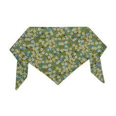 Liberty Print Daisies on Green Neckerchief by Hugo & Hennie | Dog & Pup