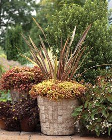 Hypertufa planter idea - use nesting wicker hampers carefully lined with plastic for moulds