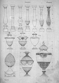surface fragments: Decorative Urns in Drawings and Paintings
