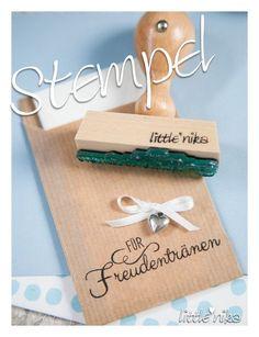 Einladungskarten - Stempel Hochzeit für Freudentränen *lovely* - ein Designerstück von littlenika bei DaWanda
