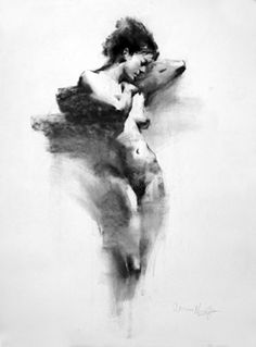 Henry Yan charcoal drawing
