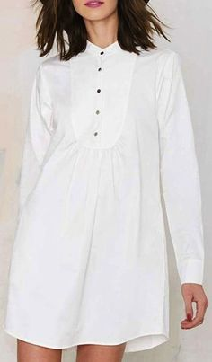 simple, classic white shirtdress