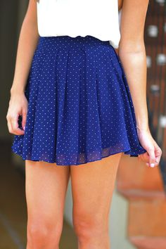 Beauty School Drop Out Skirt: Navy | Hope's