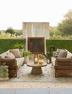 outdoor Oversized Furniture, Outdoor Cover, Metal Canopy, Backyard, Patio, Pottery Barn Teen, Outdoor Sofa, Outdoor Dining, Outdoor Spaces