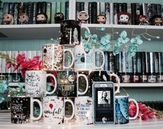 """Look what you made me do""-Taylor Swift . What is something bookstagram has made you do??? . I have found that I buy way more bookish things I totally don't need because I have seen it on other bookstagram accounts. For example all these stunning mugs designed by @eviebookish! I obviously have enough bookish mugs but I can't seem to stop myself from buying more!!! . This week @getunderlined Is running a fun contest for an awesome prize and the prompt this week was to feature a song you are…"