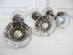 Sweet Magnolias Farm ~ Vintage Glass Door Knob Sets 3 Available $28.50