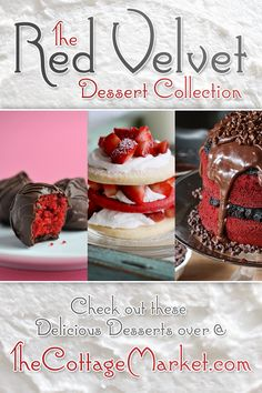 Red Velvet Desserts A Collection of Cakes, Cupcakes, Cheesecake and more